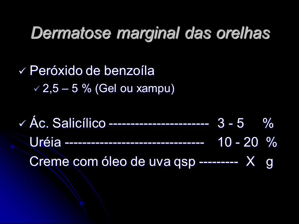 Dermatose marginal das orelhas