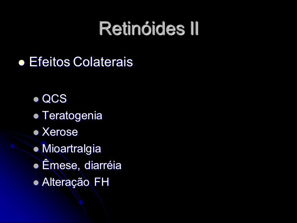 Retinóides II Efeitos Colaterais QCS Teratogenia Xerose Mioartralgia