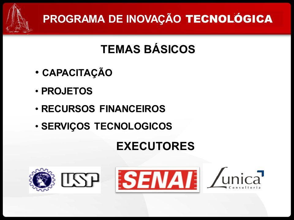 PROGRAMA DE INOVAÇÃO TECNOLÓGICA