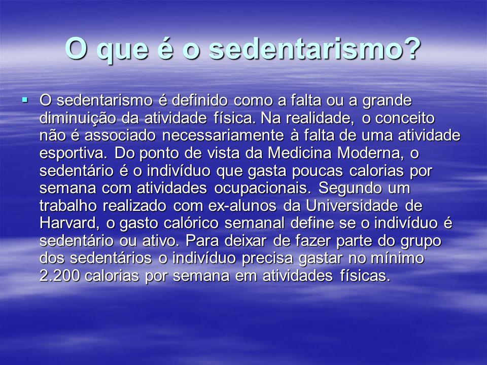 O que é o sedentarismo