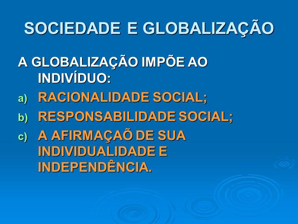 SOCIEDADE E GLOBALIZAÇÃO