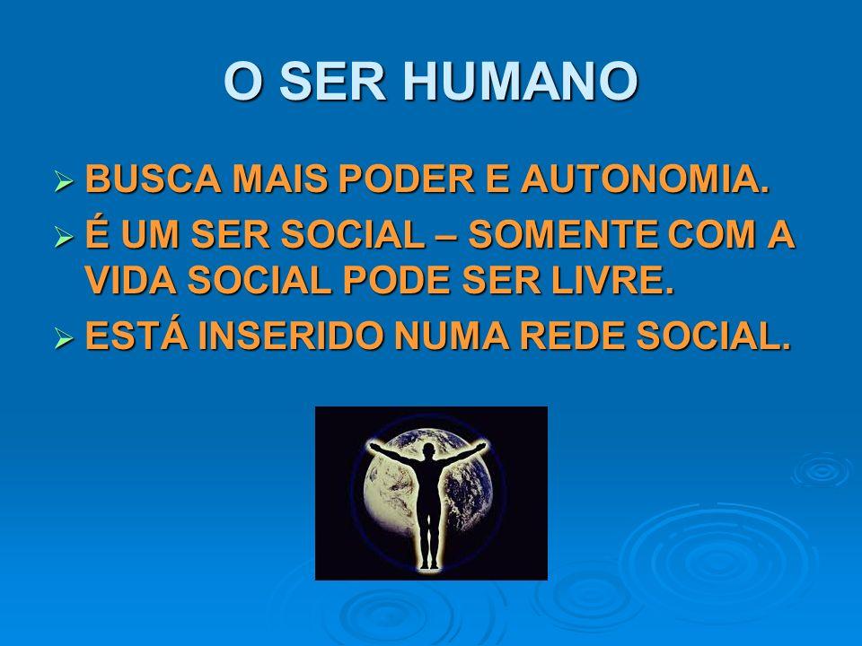 O SER HUMANO BUSCA MAIS PODER E AUTONOMIA.