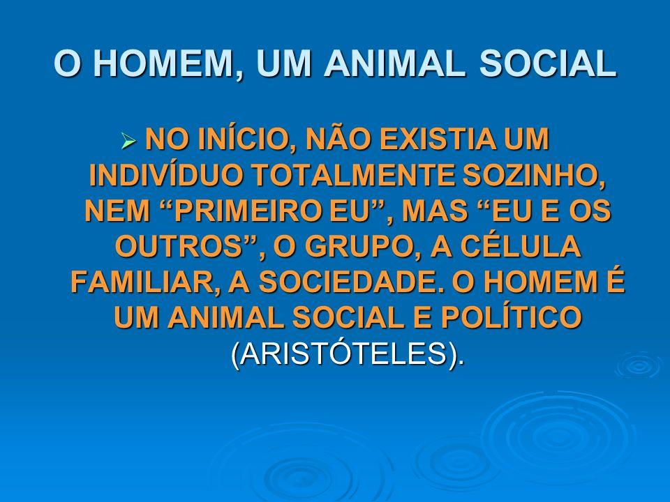 O HOMEM, UM ANIMAL SOCIAL