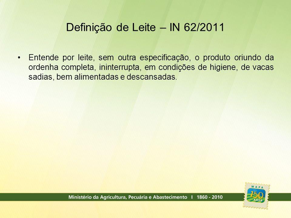 Definição de Leite – IN 62/2011