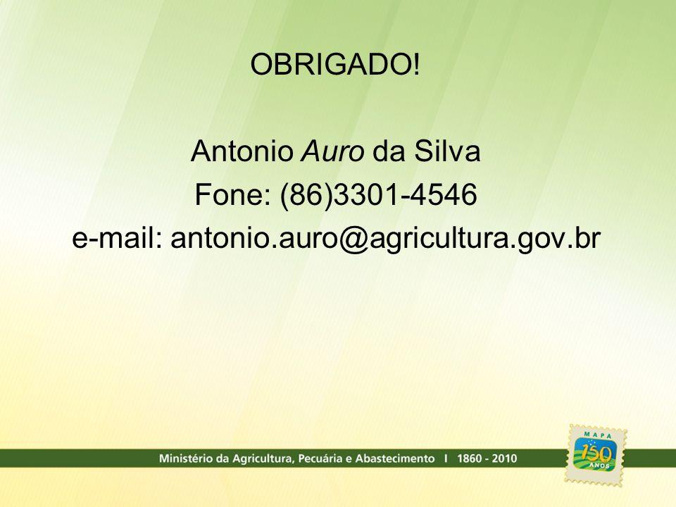e-mail: antonio.auro@agricultura.gov.br