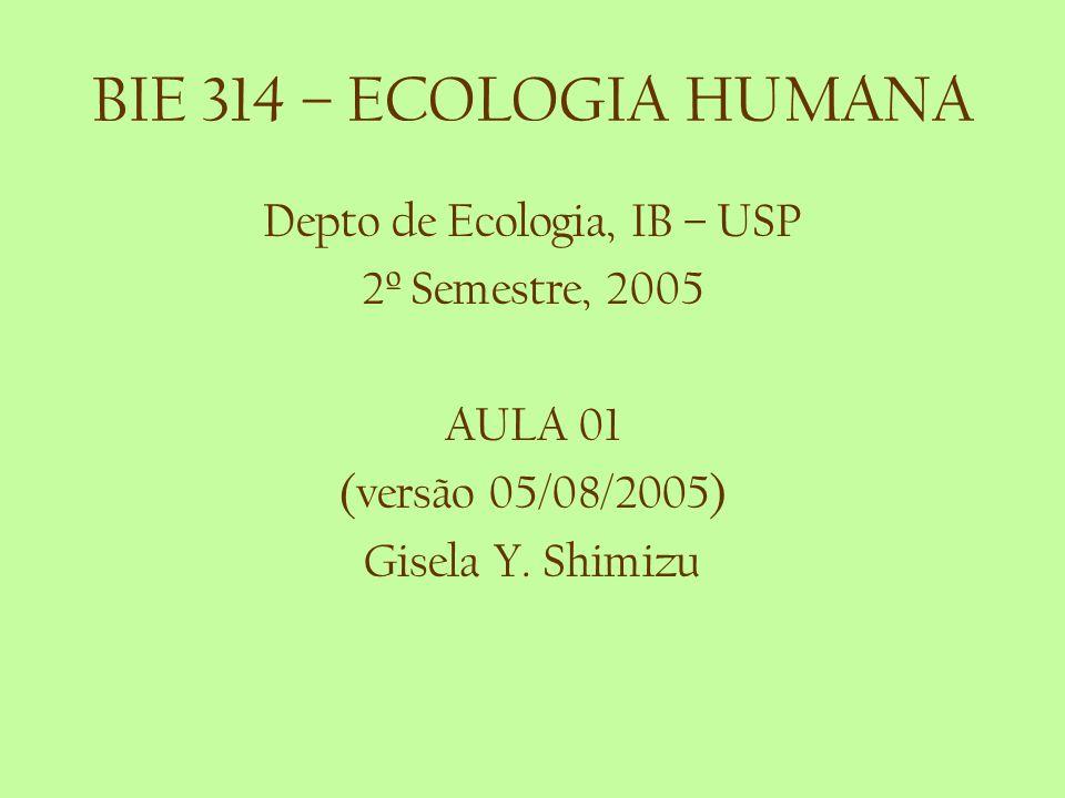 Depto de Ecologia, IB – USP