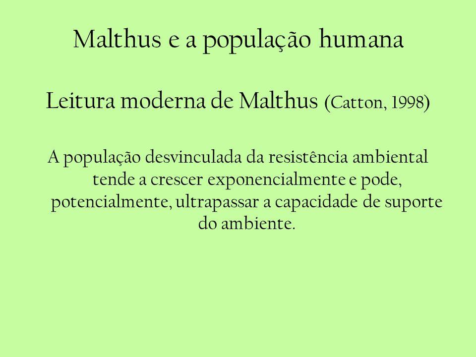 Malthus e a população humana