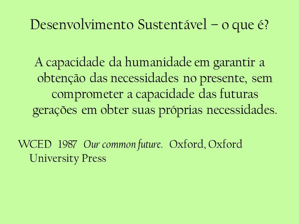 Desenvolvimento Sustentável – o que é