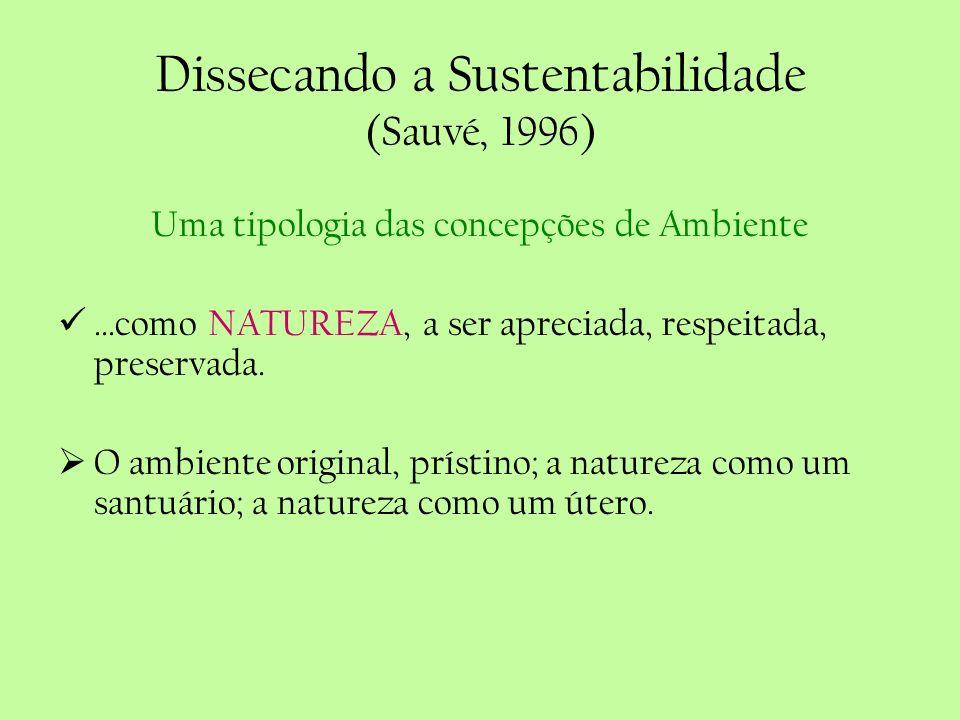 Dissecando a Sustentabilidade (Sauvé, 1996)