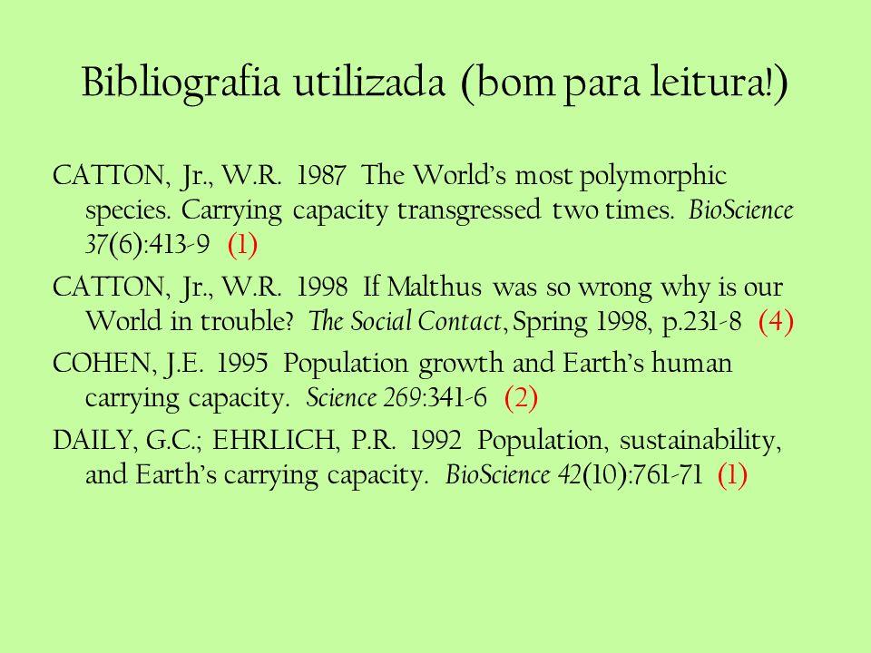 Bibliografia utilizada (bom para leitura!)