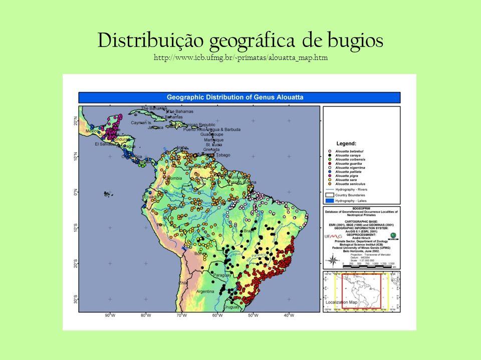 Distribuição geográfica de bugios http://www. icb. ufmg