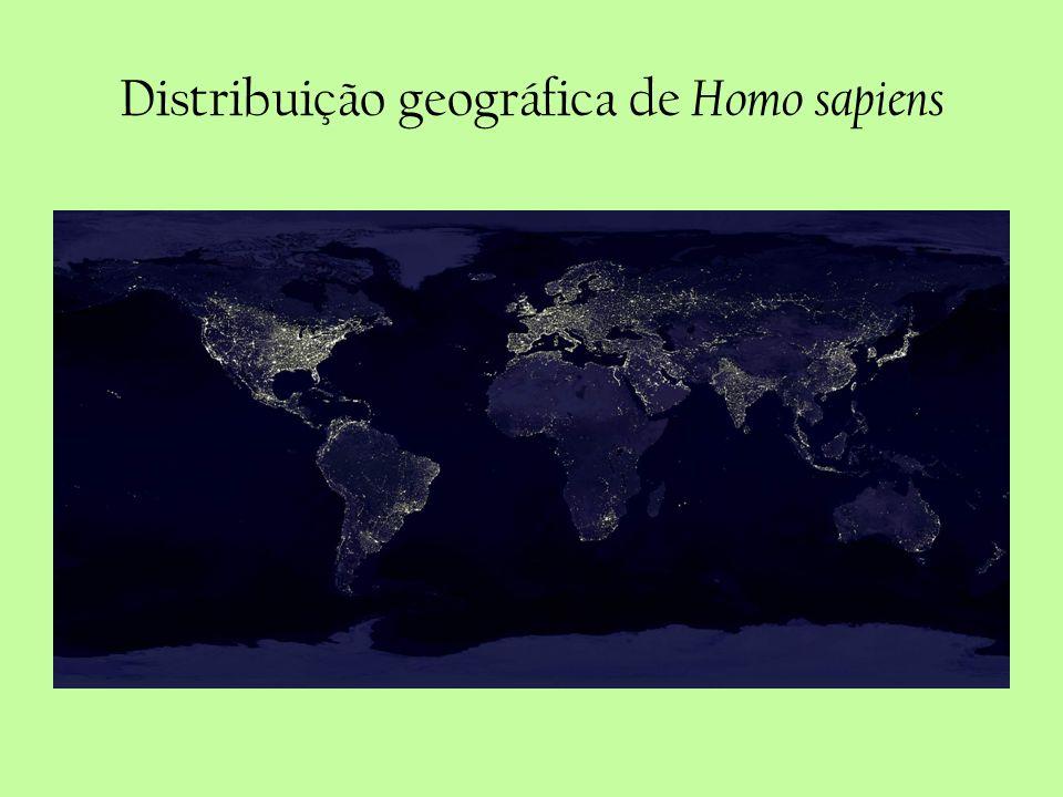 Distribuição geográfica de Homo sapiens