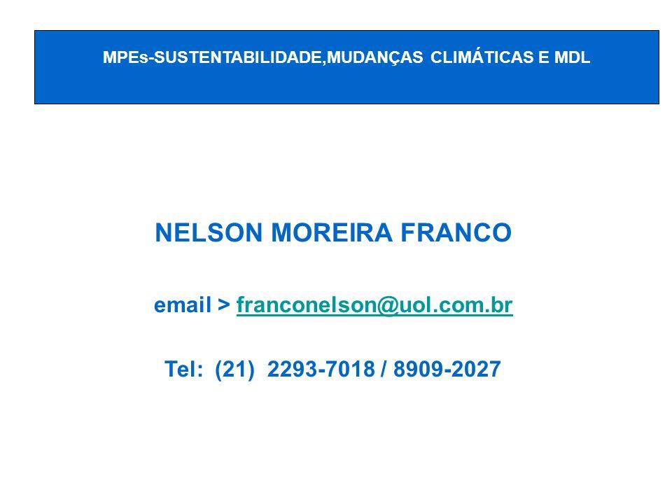 NELSON MOREIRA FRANCO email > franconelson@uol.com.br