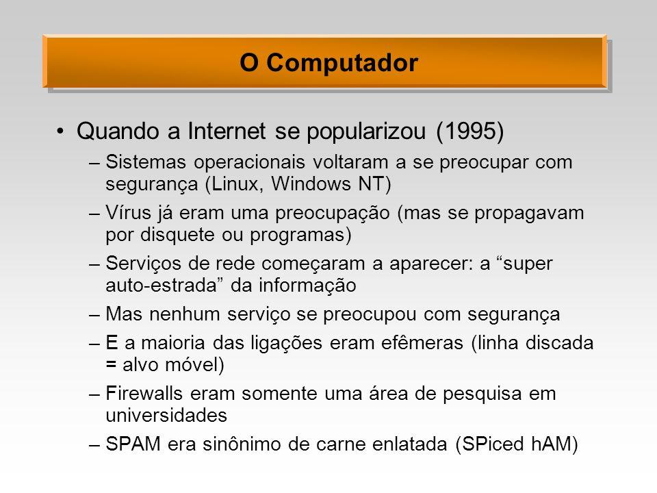 O Computador Quando a Internet se popularizou (1995)