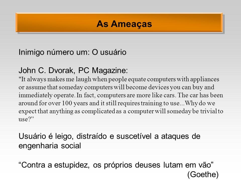 As Ameaças Inimigo número um: O usuário John C. Dvorak, PC Magazine: