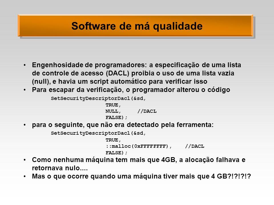Software de má qualidade