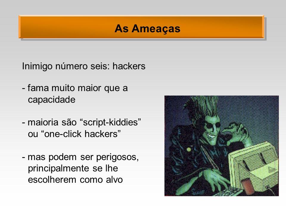 As Ameaças Inimigo número seis: hackers
