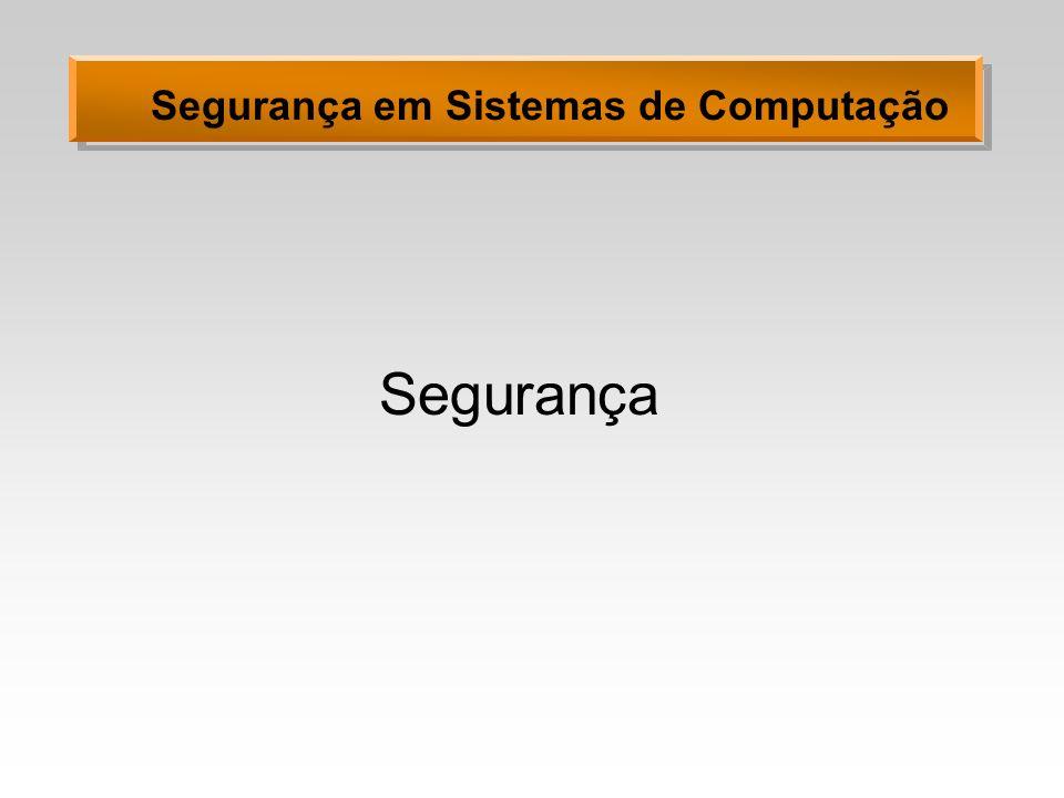 Segurança em Sistemas de Computação