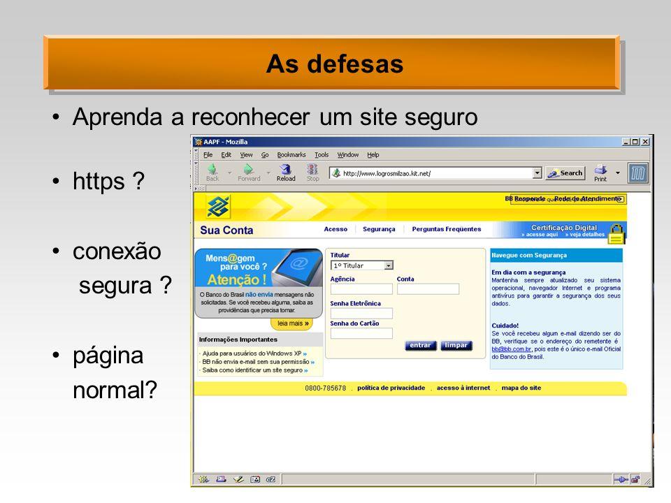 As defesas Aprenda a reconhecer um site seguro https conexão