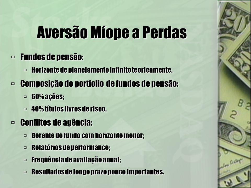 Aversão Míope a Perdas Fundos de pensão: