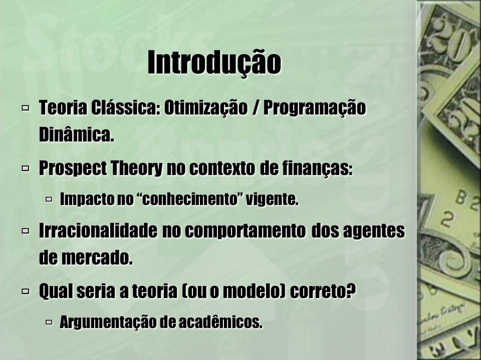 Introdução Teoria Clássica: Otimização / Programação Dinâmica.