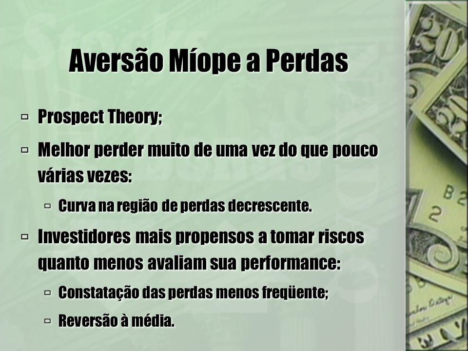Aversão Míope a Perdas Prospect Theory;