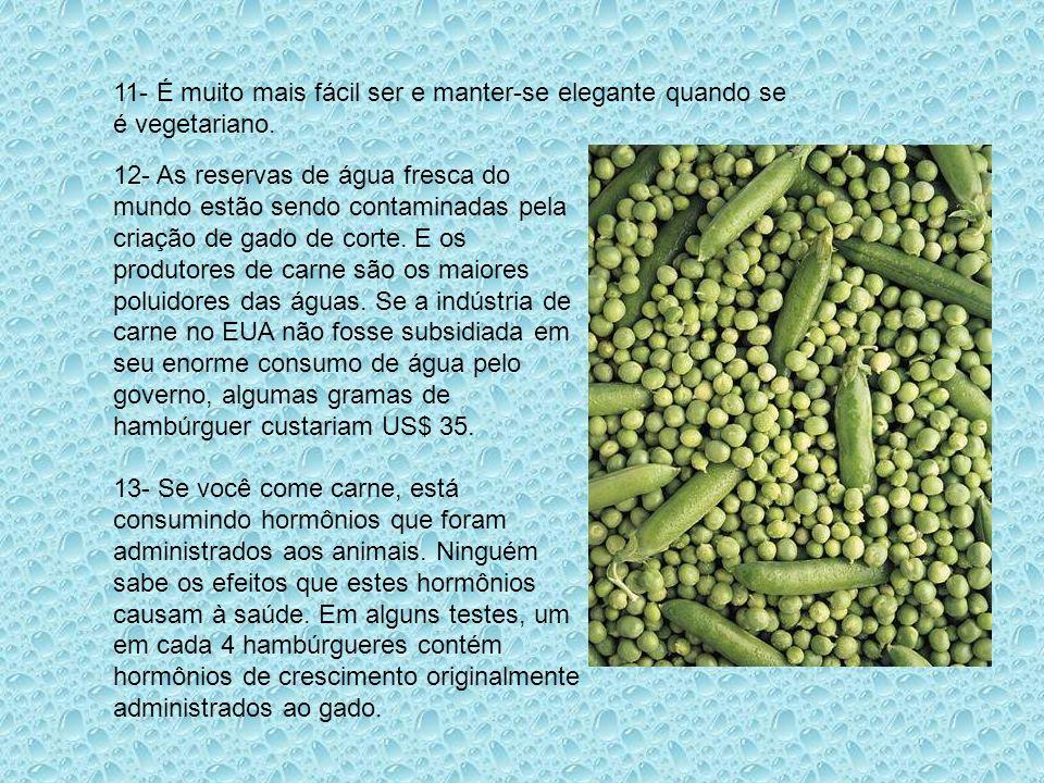 11- É muito mais fácil ser e manter-se elegante quando se é vegetariano.