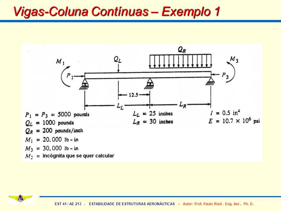 Vigas-Coluna Contínuas – Exemplo 1