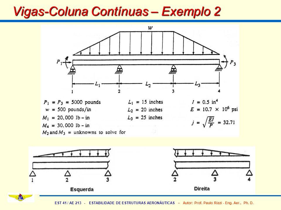 Vigas-Coluna Contínuas – Exemplo 2