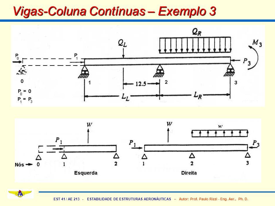 Vigas-Coluna Contínuas – Exemplo 3