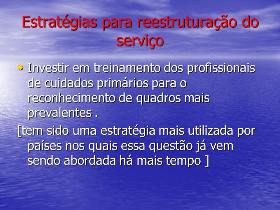 Estratégias para reestruturação do serviço