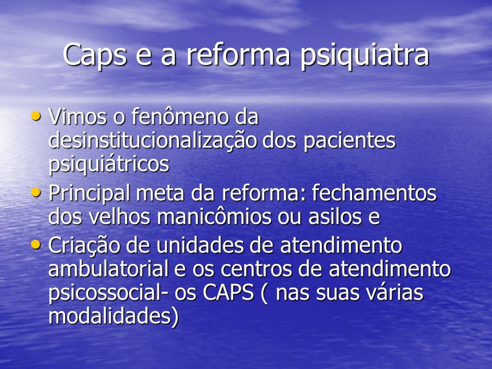 Caps e a reforma psiquiatra