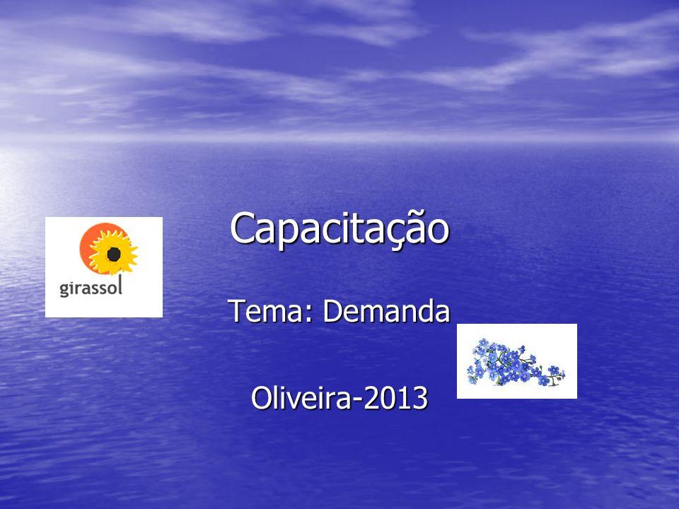 Tema: Demanda Oliveira-2013