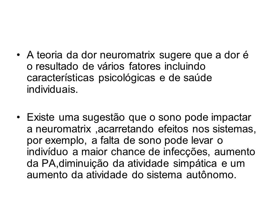 A teoria da dor neuromatrix sugere que a dor é o resultado de vários fatores incluindo características psicológicas e de saúde individuais.
