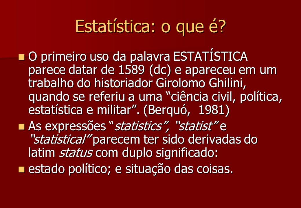 Estatística: o que é