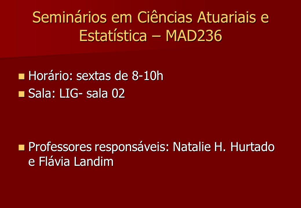 Seminários em Ciências Atuariais e Estatística – MAD236