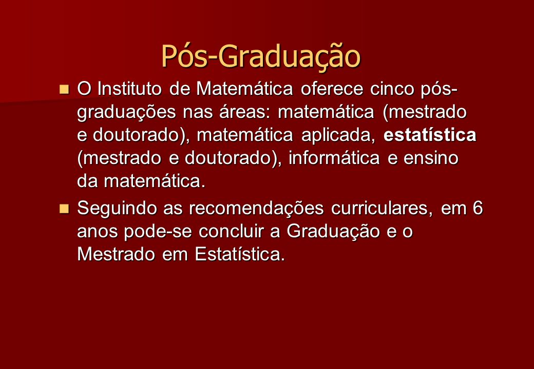 Pós-Graduação