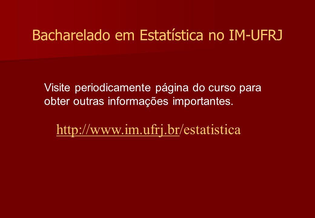 Bacharelado em Estatística no IM-UFRJ