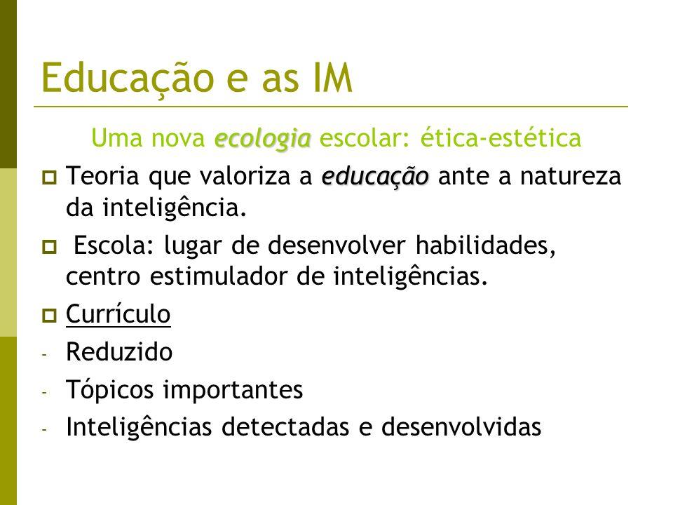 Uma nova ecologia escolar: ética-estética