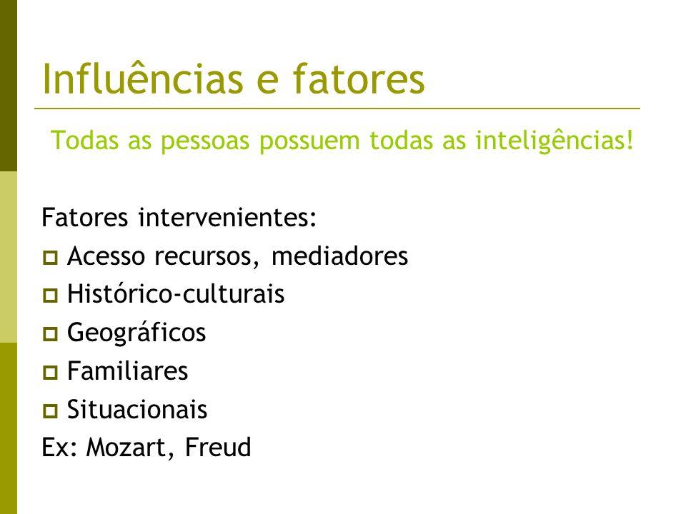 Todas as pessoas possuem todas as inteligências!
