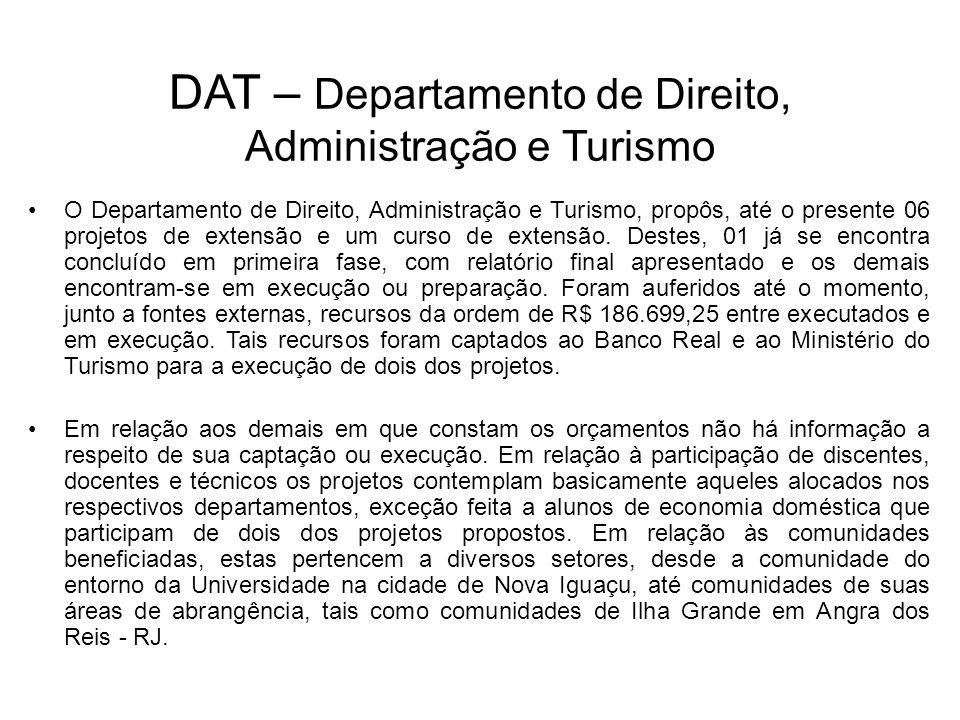 DAT – Departamento de Direito, Administração e Turismo