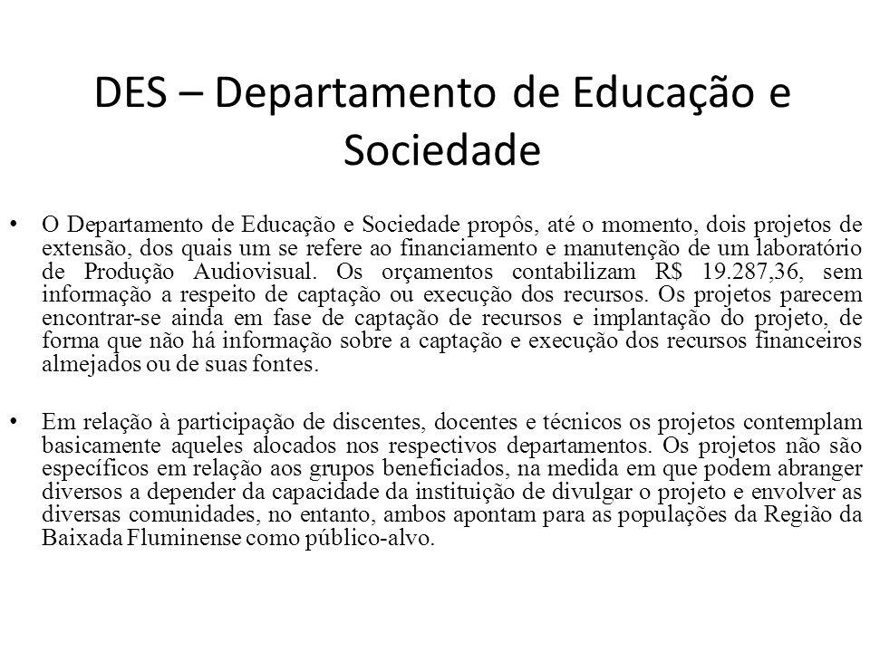 DES – Departamento de Educação e Sociedade