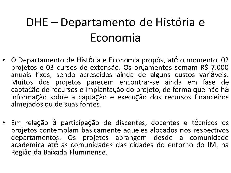 DHE – Departamento de História e Economia