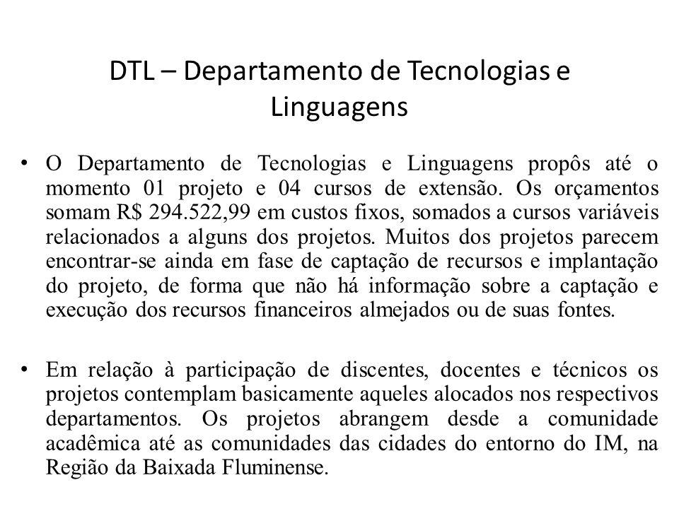 DTL – Departamento de Tecnologias e Linguagens