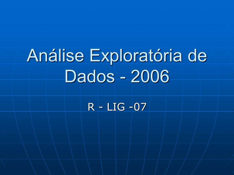 Análise Exploratória de Dados - 2006