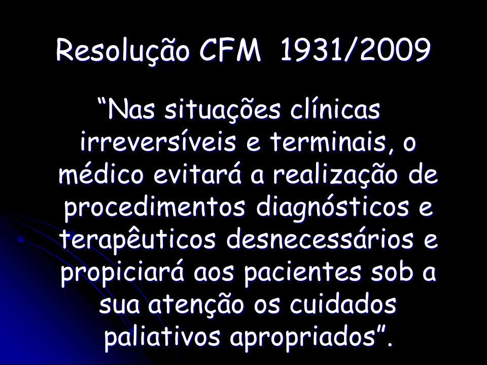 Resolução CFM 1931/2009