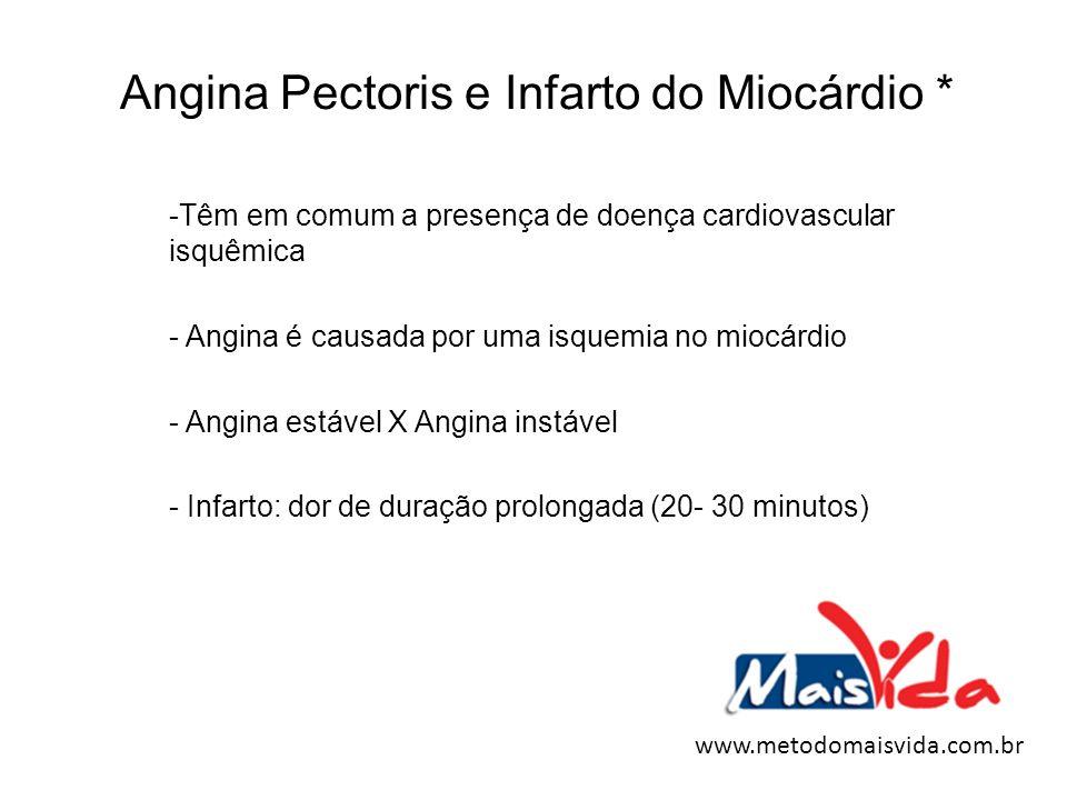 Angina Pectoris e Infarto do Miocárdio *