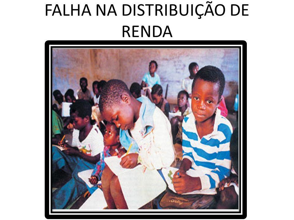 FALHA NA DISTRIBUIÇÃO DE RENDA