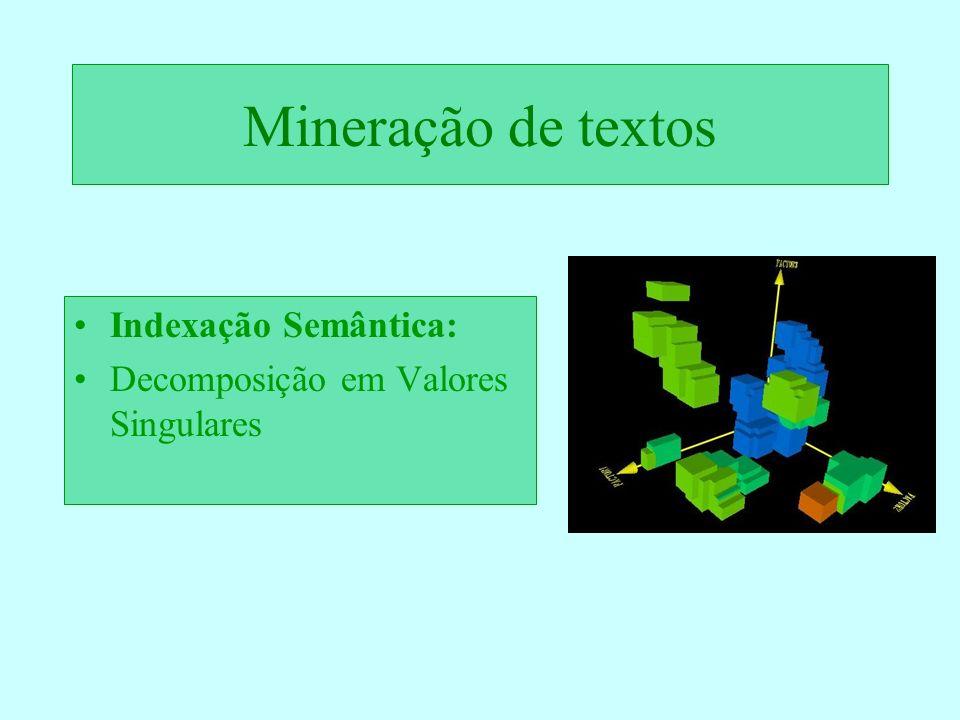 Mineração de textos Indexação Semântica: