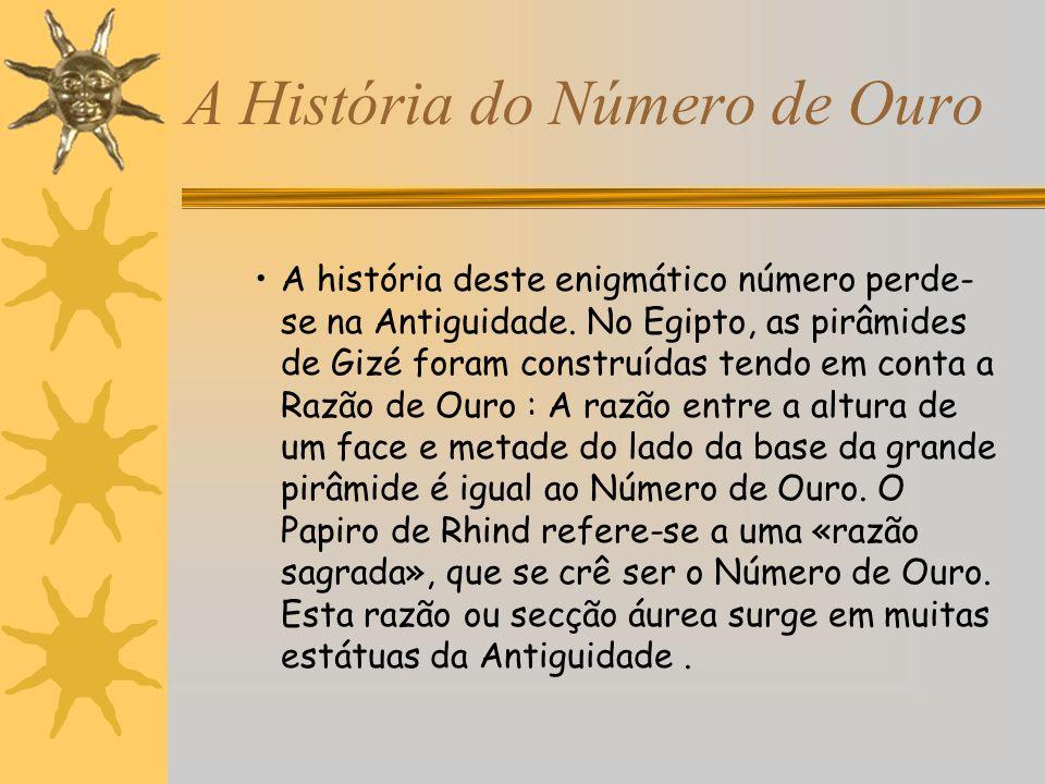 A História do Número de Ouro